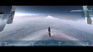 El filántropo Richard Branson vuela a bordo de avión de Virgin Galactic hacia el espacio