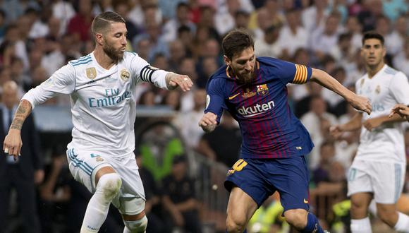 Real Madrid y Barcelona jugarán el primer clásico de la Liga española en diciembre. (Foto: AFP)