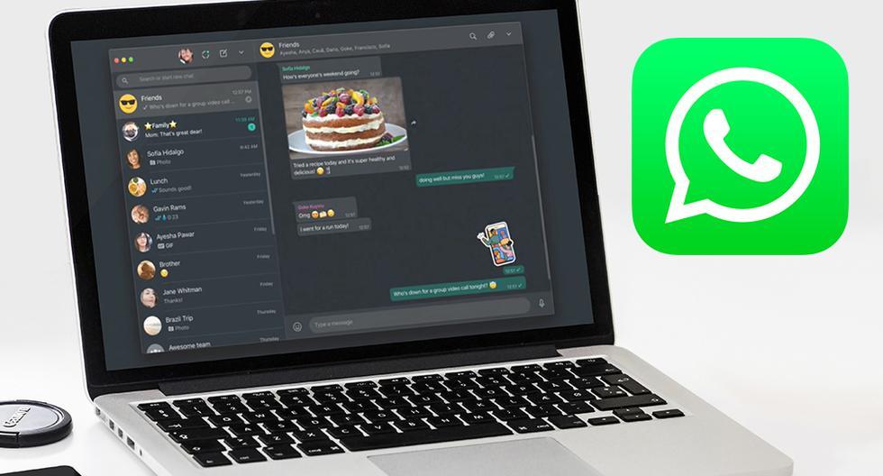 """Una de las funciones que faltaban en WhatsApp Web ya se activó. Se trata del """"modo oscuro"""". (Foto: WhatsApp)"""