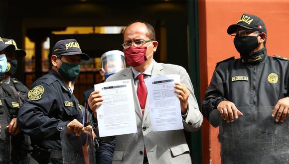 """""""El Tribunal desde el comienzo cuando no concedió la medida cautelar no cumplió con la función que le correspondía"""", indicó Luis Huerta. (Foto: GEC)"""