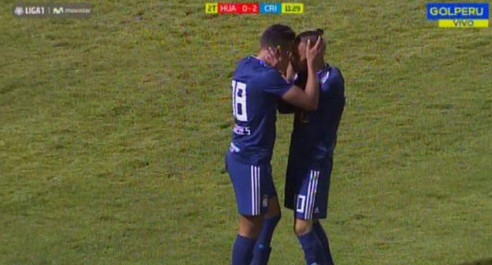 Christofer Gonzales aumentó la diferencia en el Sporting Cristal vs. Sport Huancayo. El volante nacional vive un buen presente goleador con la camiseta rimense