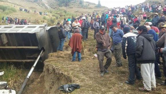 Huánuco: chofer de volquete que desbarrancó manejaba ebrio