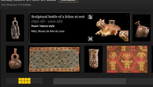 Es Museo de Arte de Lima (MALI) es uno de los pocos museos peruanos que expone sus colecciones en línea.