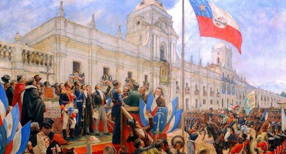 Chile declaró oficialmente su independencia de España el 12 de febrero de 1818. (Pedro Subercaseaux vía BBC)