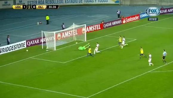 Universidad de Concepción vs. Olimpia: el gol de Rubio para el 2-0 que inició Ballón. (Foto: captura)