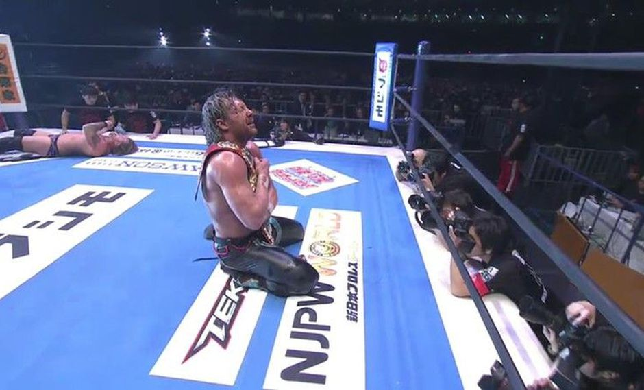 Kenny Omega derrotó a Chris Jericho en Wrestle Kingdom 12. (Foto: NJPW)