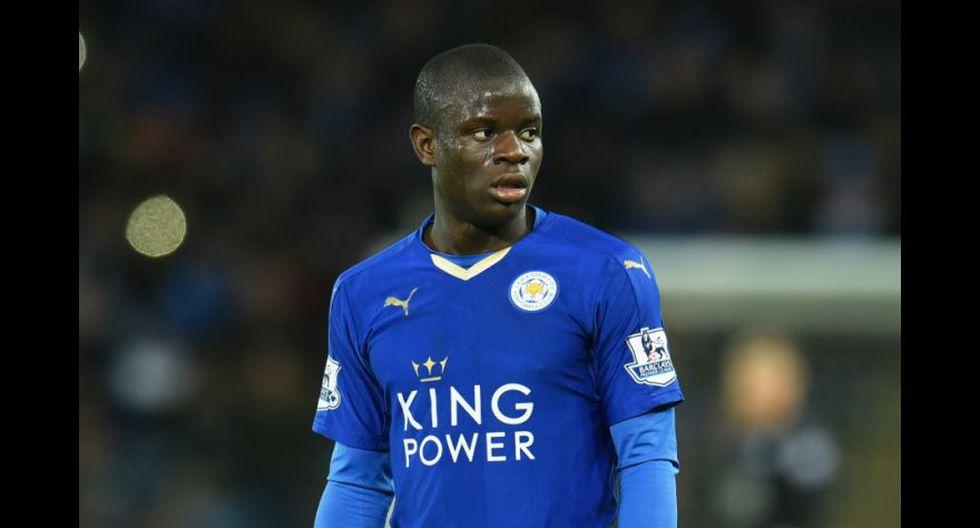 N'Golo Kanté tuvo su primer paso por el fútbol inglés con el Leicester. (Foto: AFP)