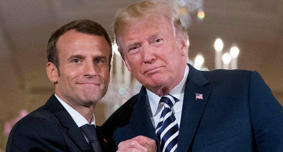 Donald Trump conversó con Emmanuel Macron por controversia nuclear con Irán. (Foto: AP)