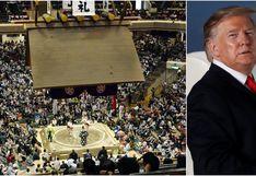 La visita de Trump a un torneo de sumo en Japón es un dolor de cabeza para su seguridad
