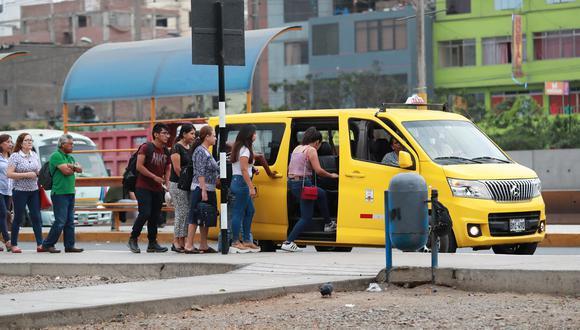 El Congreso legisló los famosos taxis colectivos en el país, a excepción de Lima y Callao. (Foto: Lino Chipana)
