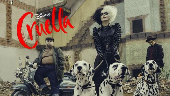 Cruella (2021), protagonizada por Emma Stone, se estrena este 28 de mayo en simultáneo en salas de cine disponibles y Disney+ a través de Premier Access. | Crédito: Disney