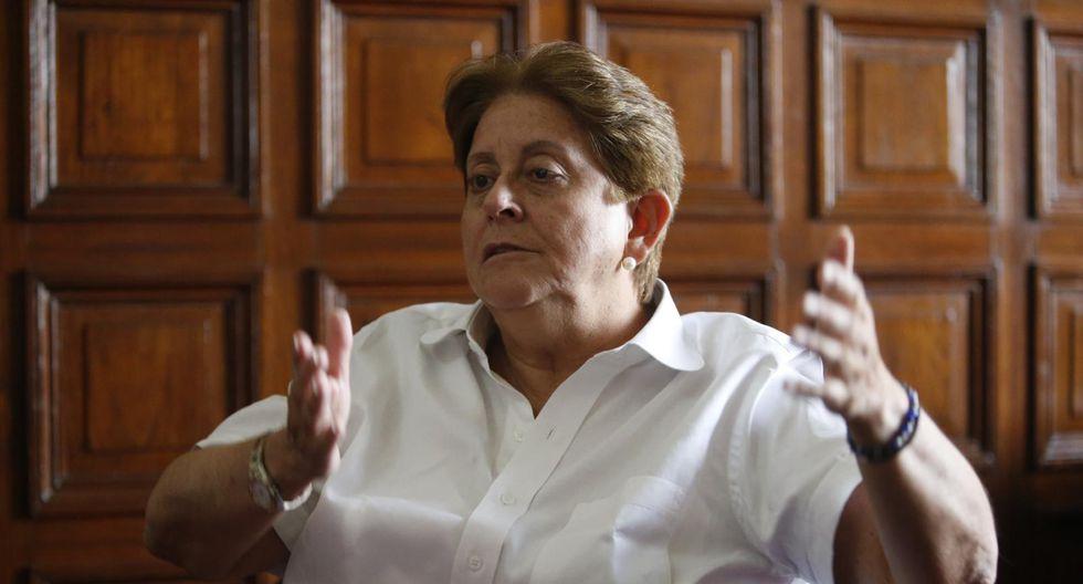 La congresista Lourdes Alcorta a favor de ceder la presidencia de la Mesa Directiva. (Foto: GEC)
