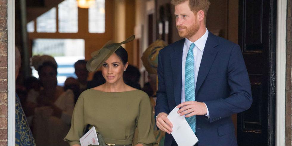 Meghan Markle lució despampanante en el bautizo del príncipe Louis.  AFP