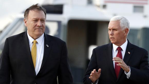Mike Pence y Mike Pompeo intentan negociar en Ankara un alto al fuego en Siria. (Foto: AP)