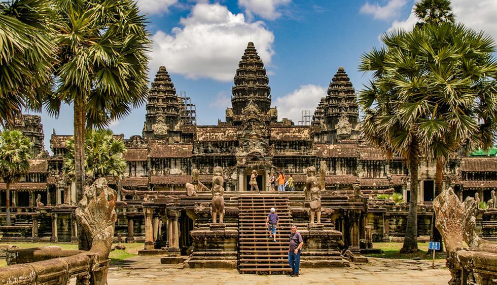 Angkor Wat, Camboya. Es el templo hinduista más grande y mejor conservado del sudeste asiático. Se construyó en el siglo XII y es considerado uno de los tesoros arqueológicos más importantes del mundo. (Foto: Shutterstock)