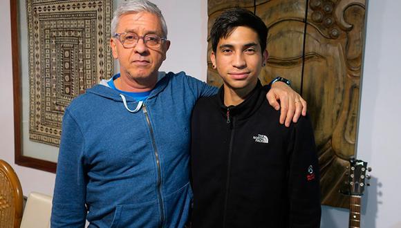 El argentino Fernando Poyo (izquierda) y el venezolano Eduardo Contreras (derecha) tienen una historia qué contar tras una protesta contra Nicolás Maduro.v