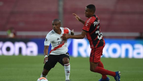 River Plate le ganó 1-0 a Paranaense y se metió en los cuartos de final de la Copa Libertadores | Foto: @RiverPlate
