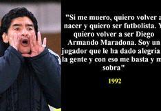 Diego Maradona partió a la eternidad: diez frases inmortales del '10' de la selección argentina