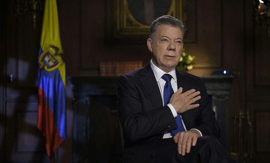 Juan Manuel Santos, presidente de Colombia entre 2010 y 2018, calificó además como el mayor logro de sus ocho años de Gobierno la firma del acuerdo de paz con la guerrilla FARC. (EFE)