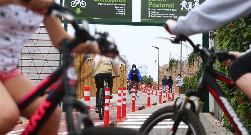 La ciclosenda de San Isidro conecta el malecón del distrito con el de Miraflores. (Foto: Alessandro Currarino/GEC)