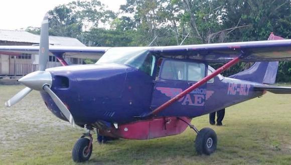 """La DGAC indicó a través de su cuenta en Twitter que una aeronave de la empresa Aerokashurco """"sufrió accidente en San Ramón"""". (Twitter)."""
