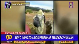 Cusco: rayo impactó a dos personas en complejo arqueológico Sacsayhuamán