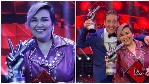 "Marcela Navarro se llevó el trofeo de la victoria de ""La Voz Perú"". (Foto : Giancarlo Ávila @photo.gec/ Latina)"