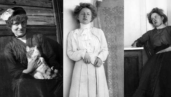 Tres imágenes de la poeta finlandesa Edith Södergran, mujer de vida breve pero prolífica. Fotos tomadas de La Sociedad de Literatura Sueca en Finlandia, respetando la licencia creative commons.