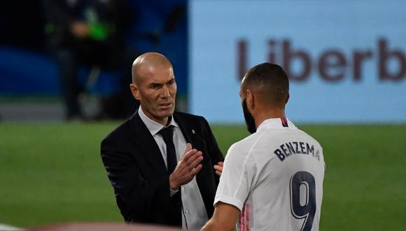 """Zidane se mostró satisfecho por el camino que transita Real Madrid en LaLiga. """"Entramos en el tramo final donde se juega todo"""", afirmó. (Foto: AFP)"""