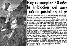 El vuelo histórico que inició el servicio aéreo postal en el Perú hace 100 años