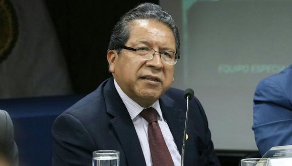 El fiscal de la Nación, Pablo Sánchez, dijo que el Perú merece que se aclaren y precisen las irregularidades que se escuchan en los audios. (USI)
