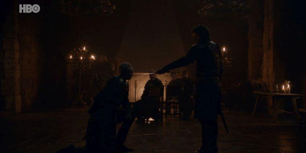 Brienne de Tarth se convierte en caballero gracias a Jaime Lannister. (Foto: HBO)
