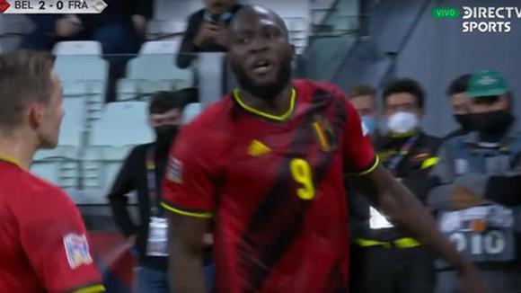 Romelu Lukaku ha segnato una splendida vittoria per 2-0 contro il Belgio.  Francia.  (Video: DirecTV Sport)