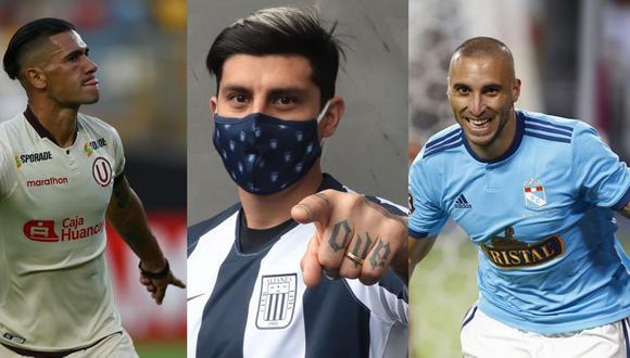 Dos Santos, Rubio y Herrera pilotean el ataque de los clubes que intentarán quedarse con el título de la Liga 1 del 2020.