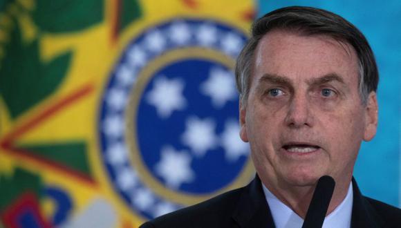 """""""Ustedes vencerán y saldrán más fuertes para el bien de Estados Unidos y de todo el mundo"""", agregó el mandatario brasileño, que, así como Trump, es uno de los gobernantes más escépticos sobre la gravedad del coronavirus. (Foto: EFE/Joédson Alves/Archivo)."""