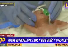 Mujer esperaba septillizos pero alumbra a nueve bebés en Marruecos