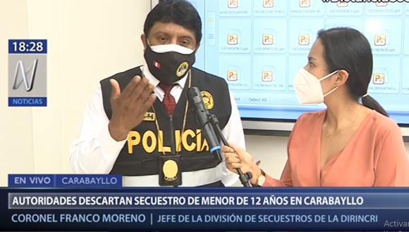 La Policía precisó que la menor se encuentra sana y salva. (Canal N)