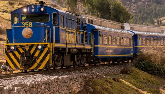 Tren de Perú Rail en ruta a Machu Picchu.