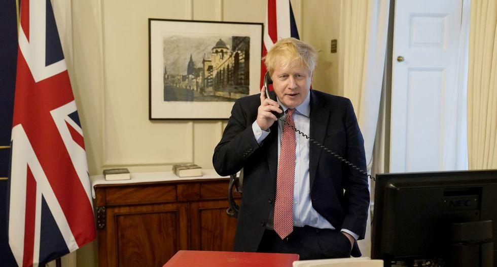 El primer ministro británico, Boris Johnson contrajo el coronavirus, y el viernes anunció que prolongaba su cuarentena en Downing Street porque aún presentaba síntomas. (Foto: AFP/Andrew Parsons)