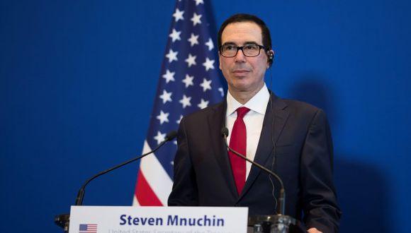 Secretario del Tesoro, Steven Mnuchin.