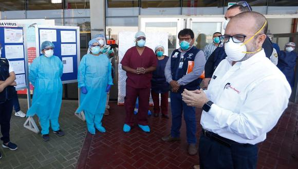 Víctor Zamora realizó una visita a Ica para verificar medidas contra coronavirus en la región. (Foto: Difusión)