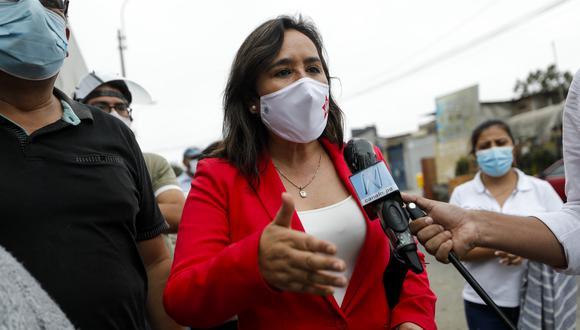 Nidia Vílchez indicó que el JNE puede pronunciarse por su pedido hasta el jueves. (Foto: GEC)