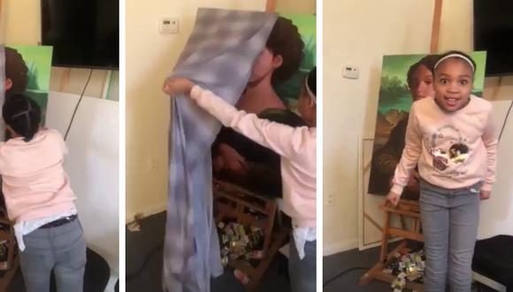 Un pintor le dio a su hija una tremenda sorpresa al plasmar su rostro en una famosa obra de arte. (Foto: Laurence Sketch Cheatham en Facebook)