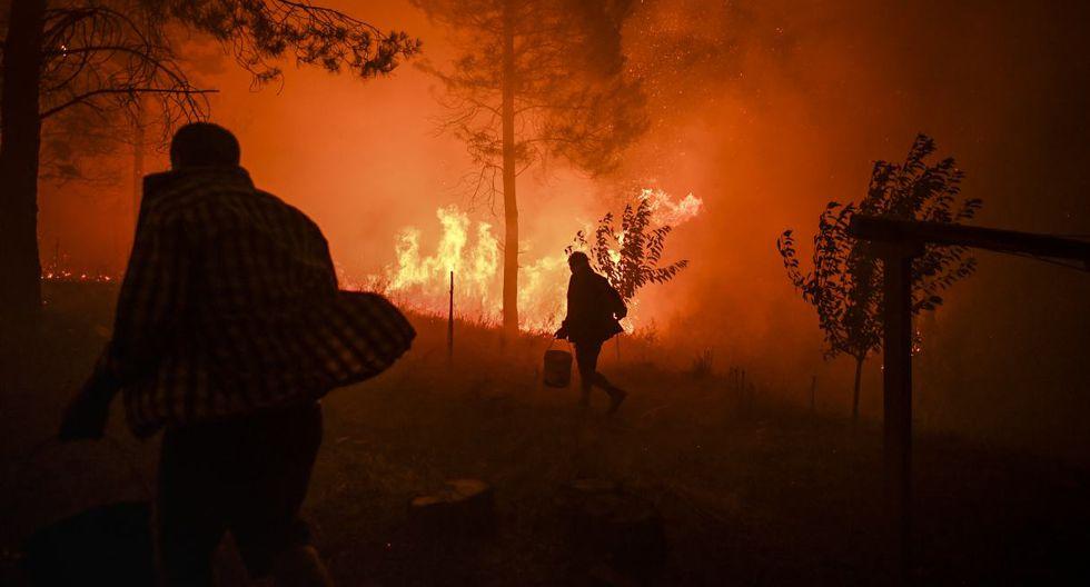 Los incendios forestales, atizados por violentos vientos, se declararon la tarde del sábado en tres frentes en zonas de difícil acceso de la región de Castelo Branco, 200 km al norte de Lisboa. (Foto: AFP)