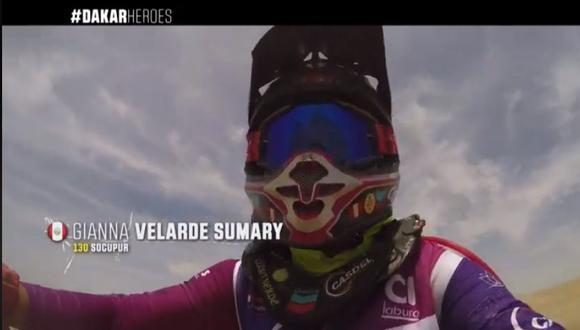 La peruana Gianna Velarde formó parte de los Dakar Héroes y grabó su caída en plena competencia. (Foto: Dakar).