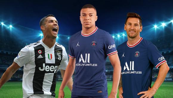 El PSG podría reemplazar a Mbappé con Cristiano Ronaldo. (Diseño: GEC)