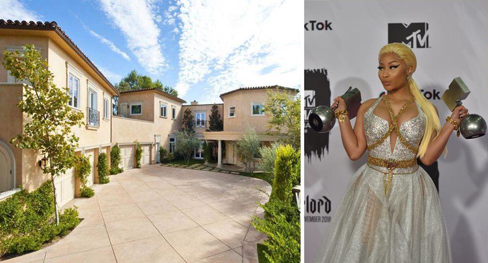 La cantante Nicki Minaj, junto a su novio Meek Mill, alquilaron una espectacular mansión en la zona de Beverly Hills por US$ 30.000 al mes. (Foto: Sotheby International Realty / AFP)
