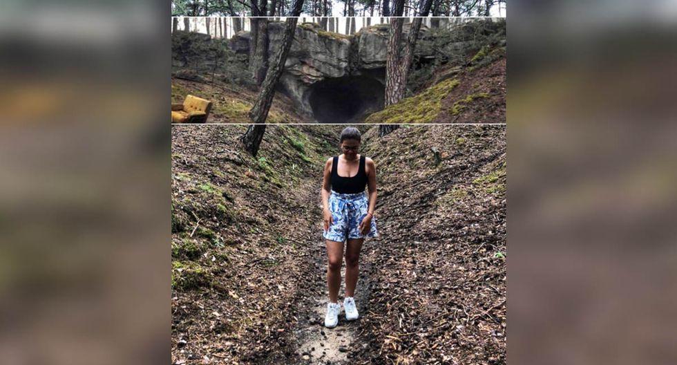 La usuaria de Twitter halló el bosque y el lugar exacto de la cueva en la serie 'Dark', pero esta en la vida real no existe.| Foto: Diana Mendoza Jerez/Twitter