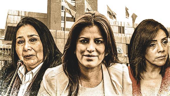 Aída García-Naranjo, ex ministra de la Mujer; Carmen Omonte, actual congresista de APP; y Alejandra Aramayo, exparlamentaria, se perfilan para postular al Parlamento Andino. (Foto: El Comercio)