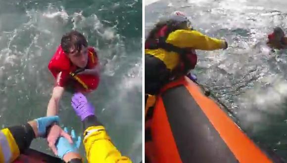 El joven fue trasladado a un hospital de Gales, donde se confirmó su buen estado.  (Foto: Royal National Lifeboat Institution | Facebook)